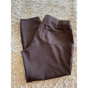 St Johns Bay Brown Cropped Legging Pants XL